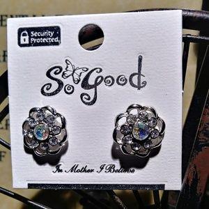 Aurora Borialias/Silver Pierced post earrings